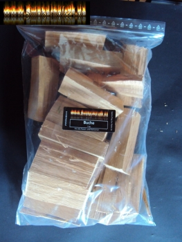 BBQ Wood Chunks Kern-Buche  core beech 1 KG Buchenholz Woodchunks