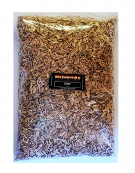 BBQ Wood Chips Eiche / oak (fein 3 bis 7mm)  Eichenholz Woodchips