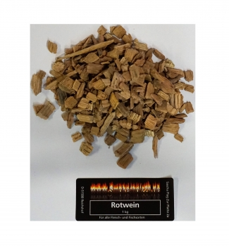 BBQ Wood Chips Rotwein